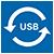USB 2.0 Cable | A Male - Micro B Male Reverisble | 1.0 m | Black