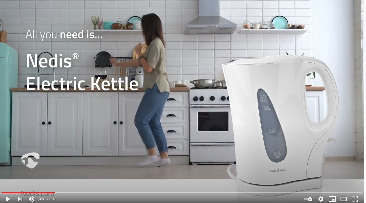 Nedis Electric Kettle White USP Video