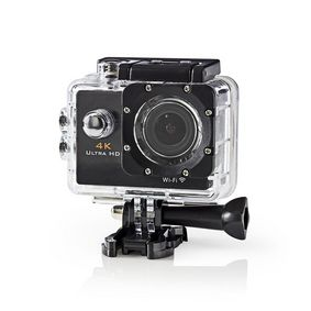 Action Cam   4K@30fps   16 MPixel   Waterproof up to: 30.0 m   90 min   Wi-Fi   App available for: Android™ / IOS   Mounts included   Black