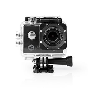 Action Cam | 4K@30fps | 16 MPixel | Waterproof up to: 30.0 m | 90 min | Wi-Fi | App available for: Android™ / IOS | Mounts included | Black