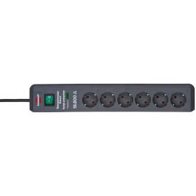 Secure-Tec, Power strip 6-way Black