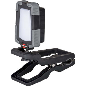 Mobile LED rechargeable spotlight CL 1050 MA / clampable LED work spotlight 10W (LED construction spotlight with clamping device ideally suited for work of home and craftsmen, in workshops or on assembly, 950lm, 12h burn time, Engineered in Germany)