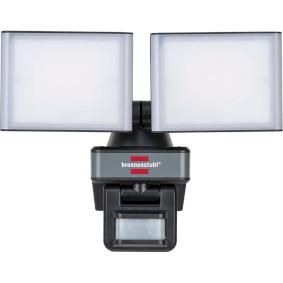 brennenstuhl®Connect WiFi LED Duo Strahler mit Bewegungsmelder WFD 3050 P / LED Außenstrahler 30W per kostenloser App steuerbar (3500lm, diverse Lichtfunktionen über App einstellbar, bis zu 12m Reichweite, Erfassungswinkel 120°, IP54)