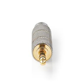 Stereo Audio Adapter | 3.5 mm Male | 6.35 mm Female | Gold Plated | Straight | Metal | Gold / Metal | 1 pcs | Cover Window Box