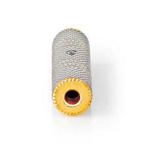 Adaptataeur audio stéréo | 3.5 mm Femelle | 3.5 mm Femelle | Plaqué or | Droit | Aluminium | Métal / Or | 1 pièces | Sachet avec Fenetre
