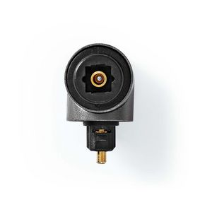 TosLink Adapter | TosLink Female | TosLink Male | Angled 90° | Aluminium | Gunmetal | 1 pcs | Box