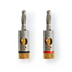 Banana Connector | Banana Male | Goud Verguld | 2 Stuks | Aluminium | Metaal