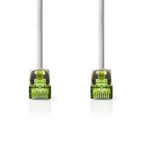 CAT7 Cable | S/FTP | RJ45 Male | RJ45 Male | 10.0 m | Round | LSZH | Grey | Window Box