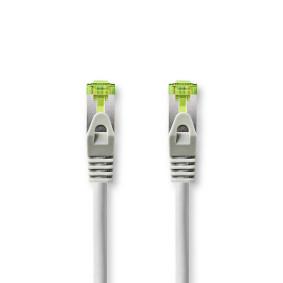 Cat 7 kabel | S / FTP | RJ45 Zástrčka | RJ45 Zástrčka | 2.0 m | Kulatý | LSZH | Šedá | Box s Okénkem