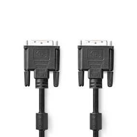 DVI-Kabel   DVI-D 24+1-Pin Stecker   DVI-D 24+1-Pin Stecker   2560x1600   Vernickelt   2.00 m   PVC   Schwarz   Box