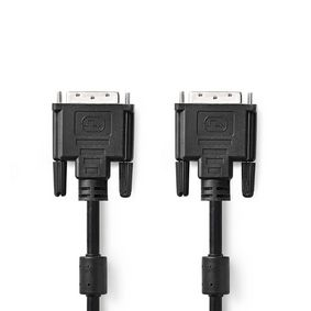 DVI-Kabel   DVI-D 24+1-Pin Stecker   DVI-D 24+1-Pin Stecker   2560x1600   Vernickelt   3.00 m   PVC   Schwarz   Blister