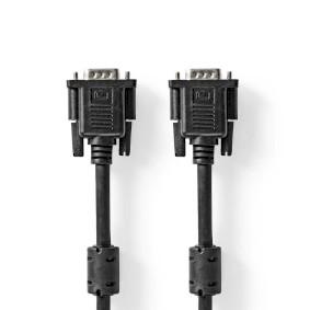 VGA-Kabel   VGA Stecker   VGA Stecker   Vernickelt   Maximale Auflösung: 1024x768   3.00 m   rund   ABS   Schwarz   Box