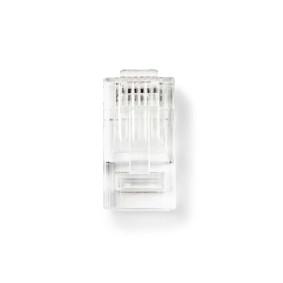 RJ45-stik | Han | Solid UTP CAT5 | Lige | Guldplateret | 10 stk. | PVC | Gennemsigtig | Box