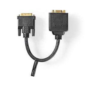 DVI-Kabel   DVI-I 24+5-Pin Stecker   2x VGA Buchse   1080p   Vernickelt   0.20 m   PVC   Schwarz   Plastikbeutel