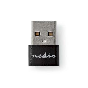 USB-Adapter | USB 2.0 | USB Type-A | USB Type-C™ Female | 480 Mbps | Vernikkeld | Zwart | Polybag