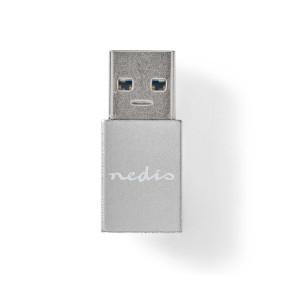 adaptador USB | USB 3.2 Gen 1 | USB-A macho | USB Type-C ™ Hembra | Niquelado | Recto | Metal | Negro | Sobre