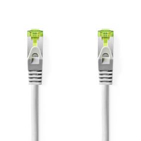 Cat 7 kabel | PiMF | RJ45 (8P8C) Zástrčka | RJ45 (8P8C) Zástrčka | 2.0 m | Kulatý | LSZH | Šedá | Plastový Sáček