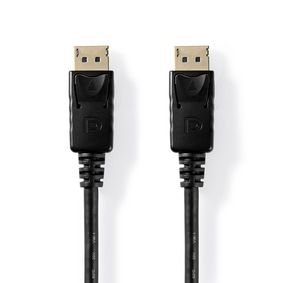 DisplayPort Cable | DisplayPort Male | DisplayPort Male | 4K@60Hz | Nickel Plated | 3.00 m | Round | PVC | Black | Tag