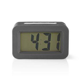 Digitale Bureau-Wekker | LCD met Achtergrondverlichting | 3.5 cm | Achtergrondverlichting | Snoozefunctie | Nee | Grijs / Wit