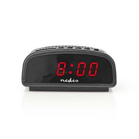 Digitale Bureau-Wekker | LED-Scherm | Snoozefunctie | Nee | Zwart