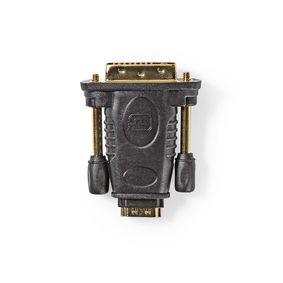 HDMI™ Adapter | DVI-D 24+1-Pin Male | HDMI™ Female | Nickel Plated | Straight | ABS | Black | 1 pcs | Box