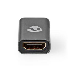 Adattatore HDMI™ | HDMI ™ femmina / Ingresso HDMI ™ | HDMI ™ femmina / Uscita HDMI ™ | Placcato oro | Dritta | Alluminio | Grigio piombo | 1 pz. | Confezione con finestra