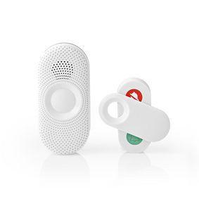 Wireless Doorbell Set | Mains Powered | 80 dB | Signal range: 300 m | IP44 | Adjustable volume | 36 Melodies | 1 Receiver | Grey / White