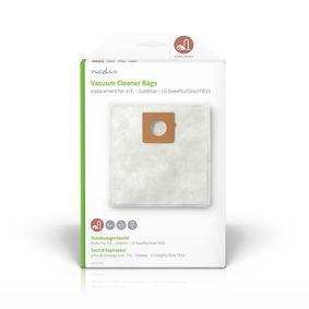 Staubsaugerbeutel | 4 Stück Stück | Synthetik | Meist verkauft für: H.E. - Goldstar - LG Sweefty/Dino/TB33 | Weiss