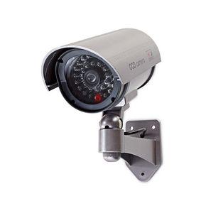Dummy Beveiligingscamera | Bullet | IP44 | Batterij Gevoed | Buiten | Inclusief muurbeugel | Grijs