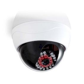 Dummy Beveiligingscamera | Dome | Batterij Gevoed | Binnen | Wit