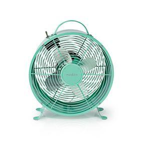 Tischventilator   Netzstromversorgung   Durchmesser: 250 mm   20 W   2-Geschwindigkeitsstufen   Türkis