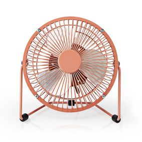 Table Fan | USB Powered | Diameter: 15 cm | 3 W | 1-Speed | Vintage Pink