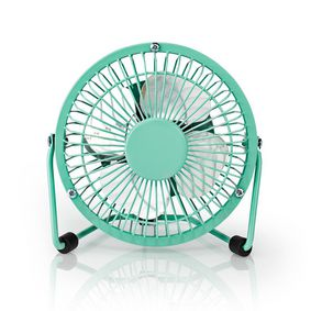 Table Fan | USB Powered | Diameter: 10 cm | 3 W | 1-Speed | Turquoise