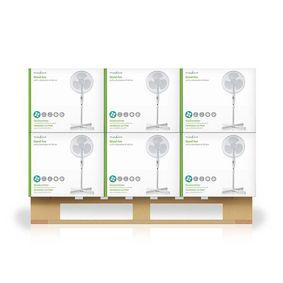 Ventilador de pie | Diámetro: 400 mm | 3 Velocidades | Oscilación | 45 W | Altura ajustable | Blanco