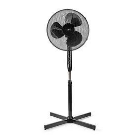 Ventilador de pie | Diámetro: 400 mm | 3 Velocidades | Oscilación | 40 W | Altura ajustable | Temporizador de apagado | Mando a distancia | Negro