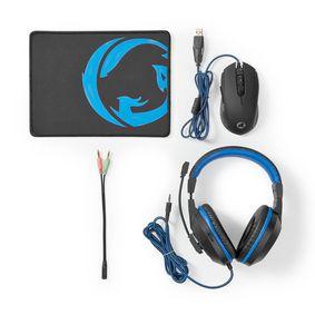 Gaming Combo Kit | 3 in 1 | Headset, Maus und Mauspad | Blau / Schwarz