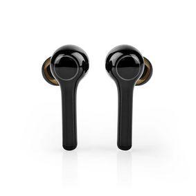 Teljesen vezeték nélküli fülhallgató | Bluetooth® | Elem lejátsázis ideje: Max. 6 óra | Érintés Vezérlés | Töltő tok | Beépített mikrofon | Hangvezérlés támogatás | Fekete
