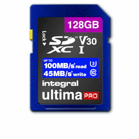 High Speed SDHC/XC V30 UHS-I U3 128 GB SD memory card
