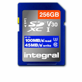 High Speed SDHC/XC V30 UHS-I U3 256GB SD memory card