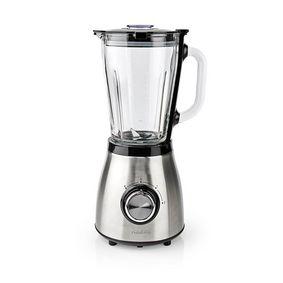 Blender | 800 W | 1.5 l | Glas | 2-Snelheden | Zilver / Zwart