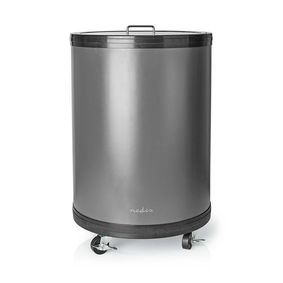 Party Cooler | 30 L | Adjustable Thermostat | Glass Top | Wire Basket | Caster wheels