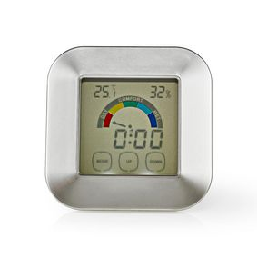 Kitchen Thermometer | Silver / White | Plastic | Digital display | 85 mm | 24 mm | 85 mm