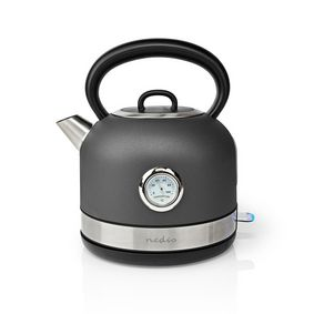Electric Kettle | 1.7 l | Stainless Steel | Grey | Temperature indicator | Rotatable 360 degrees | Concealed heating element | Strix® controller | Boil-dry protection