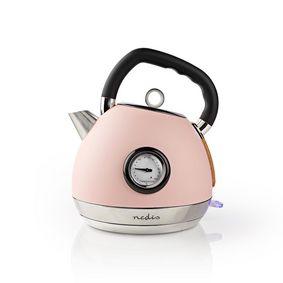 Bollitore elettrico | 1.8 l | Soft touch | Rosa | Indicatore di temperatura | Ruotabile di 360 gradi | Elemento riscaldante nascosto | Controller Strix® | Protezione da bollitura a secco