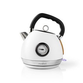 Electric Kettle | 1.8 l | Soft-Touch | White | Temperature indicator | Rotatable 360 degrees | Concealed heating element | Strix® controller | Boil-dry protection