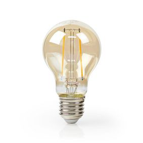 LED-Filament-Lampe E27 | A60 | 5.4 W | 400 lm | 2500 K | Mit Gold Finish | Retro Style | Anzahl der Lampen in der Verpackung: 1