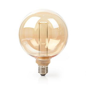 LED-Filament-Lampe E27 | G125 | 3.5 W | 120 lm | 1800 K | Mit Gold Amber Finish | Retro Style | Anzahl der Lampen in der Verpackung: 1