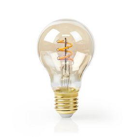 LED-Filament-Lampe E27 | A60 | 5 W | 250 lm | 2000 K | Mit Gold Finish | Retro Style | Anzahl der Lampen in der Verpackung: 1