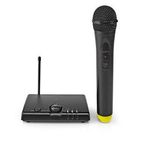 Wireless-Mikrofon-Set | 1 Mikrofon | Cardioid | 40 Hz - 15 kHz | 1500 Ohm | -97 dB | Lautstärke-Regler | Schwarz