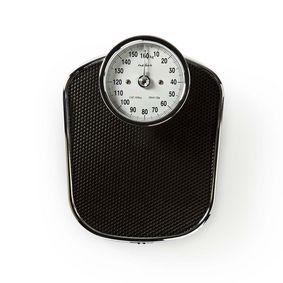 Personvåg | Analog | Svart | Gummi | Anti-Halk vöggplattform | Maximal vägningskapacitet: 160 kg